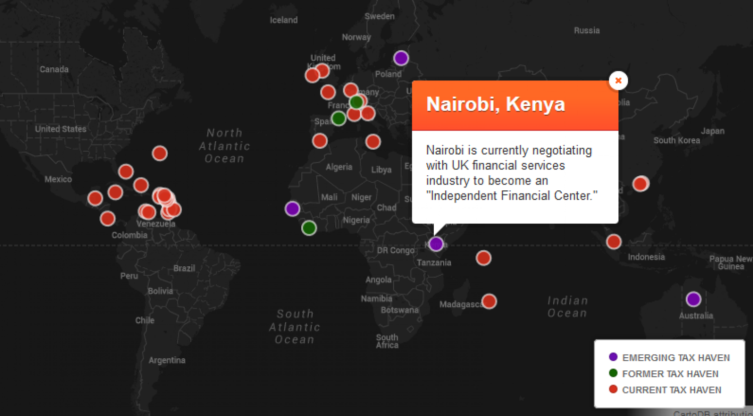 A Map Of Former, Current And Emerging Tax Havens Infographic