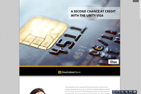 A Second Chance At Credit With The UNITY Visa Infographic
