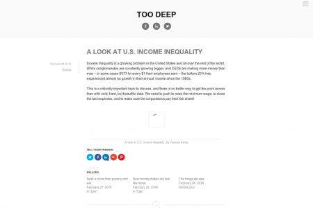 A look at U.S. income inequality Infographic