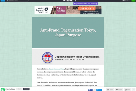 Anti-Fraud Organization Tokyo, Japan Purpose Infographic