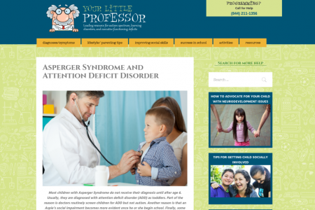 Asperger Syndrome and Attention Deficit Disorder Infographic
