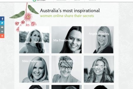 Australia's Most Inspirational Women Online Share their Secrets Infographic