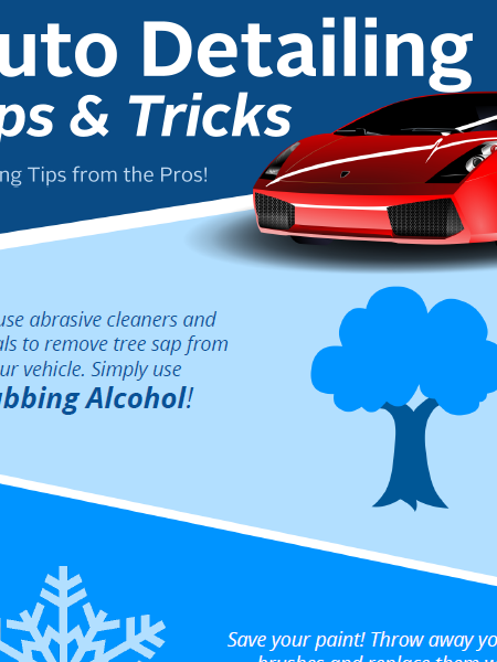 Auto Detailing Tips & Tricks Infographic Infographic
