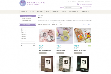 Baby Shower Gifts Online Singapore   SG Wedding Favors Infographic