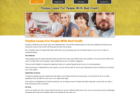 Bad Credit Payday Loans Risk Free Financial Help In Quick Fix Mode Infographic