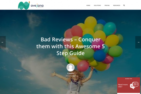 Bad Reviews – Conquer them with this Awesome 5 Step Guide Infographic