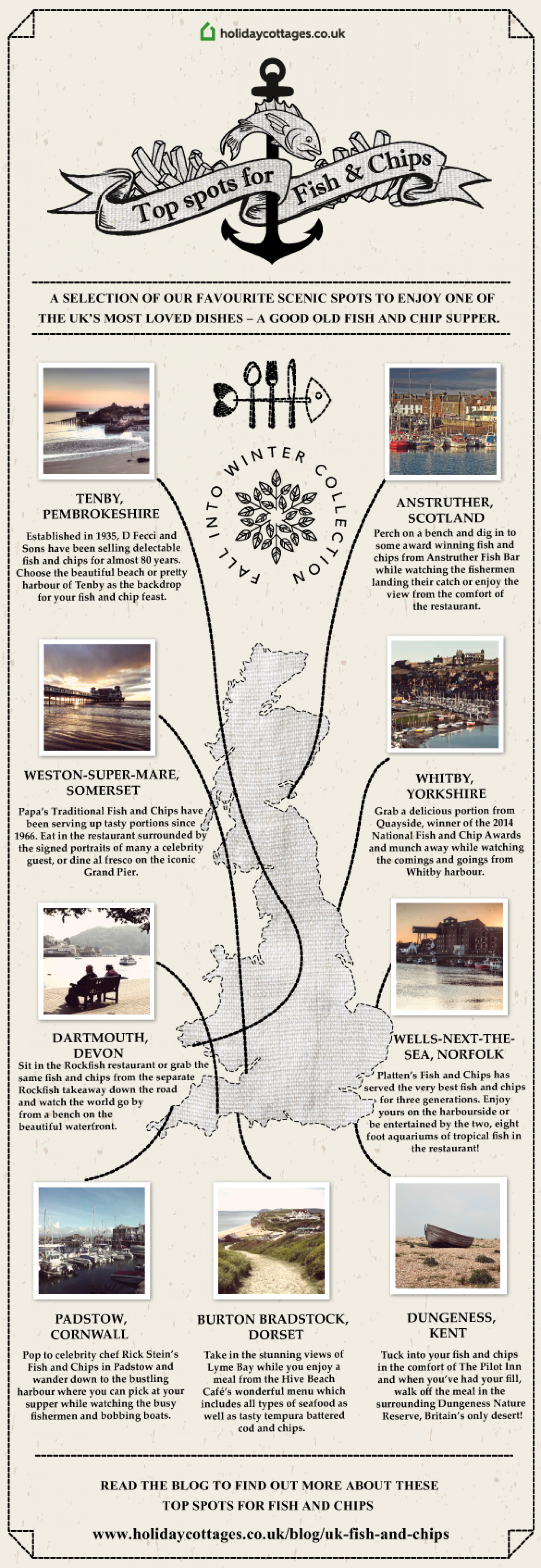 Best fish and chip shops: A traditional British treat Infographic