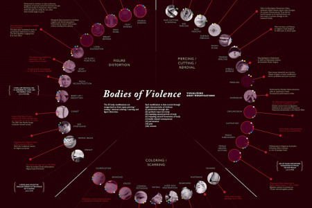 Bodies of Violence: Visualizing 35 Body Modifications Infographic