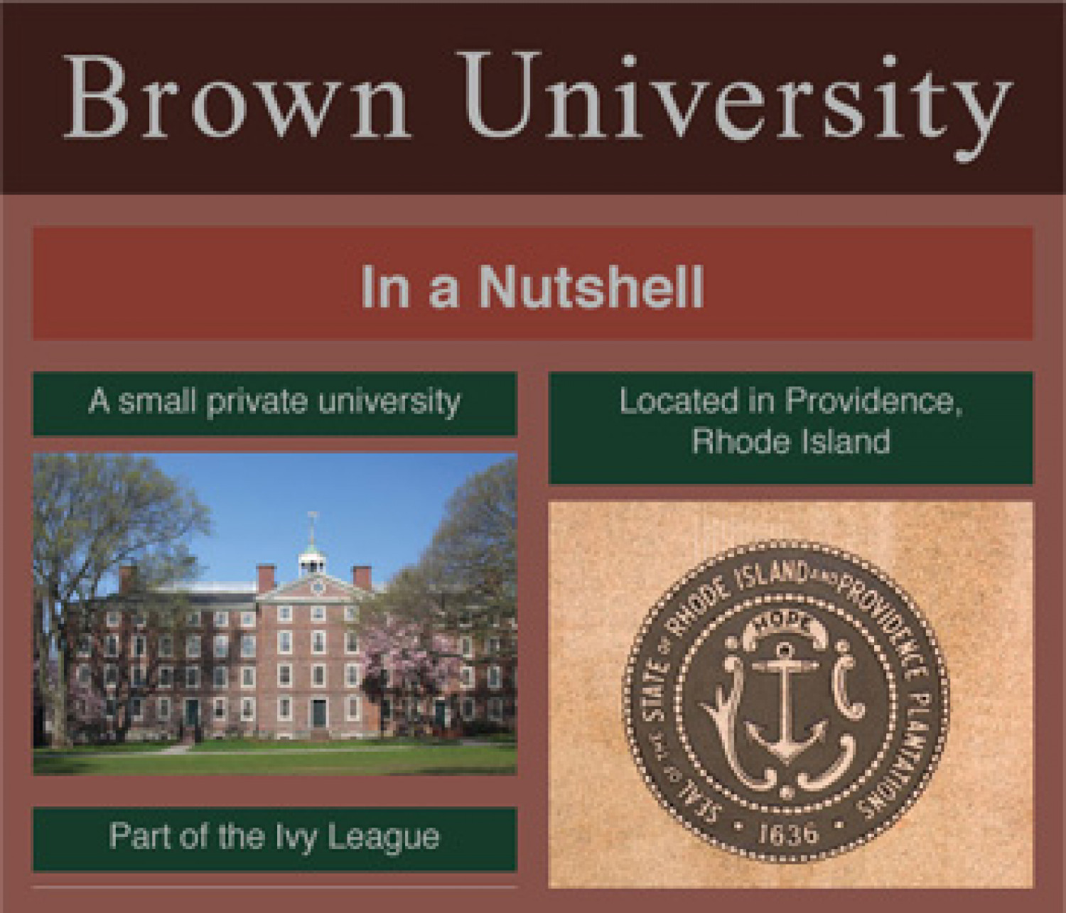 Brown University Infographic Infographic
