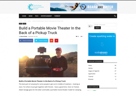 Build a Portable Movie Theater In the Back of a Pickup Truck Infographic