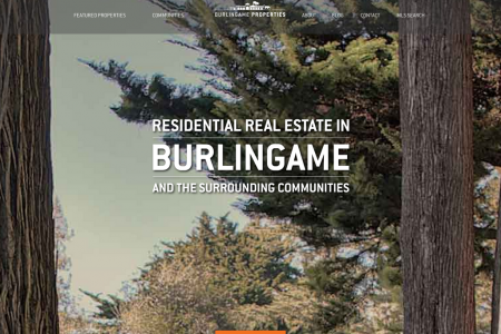 Burlingame Properties web design Infographic
