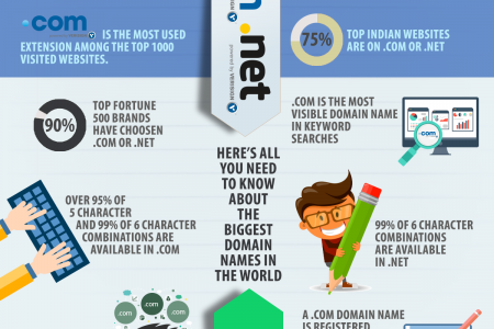.COM & .NET domains Infographic