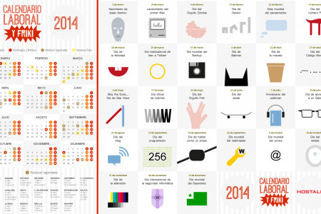 Calendario laboral y Friki 2014 Infographic