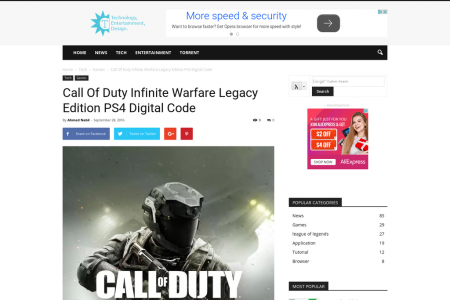 Call Of Duty Infinite Warfare Legacy Edition PS4 Digital Code Infographic