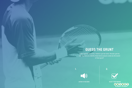 Can you Guess The Grunt with Unibet? Infographic
