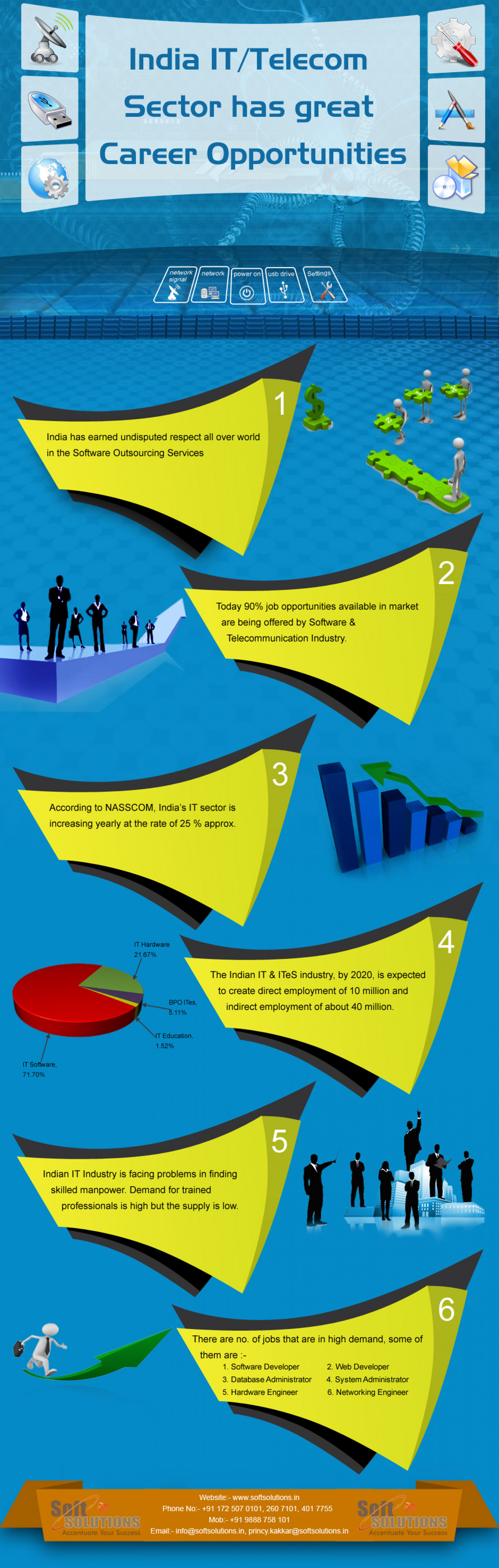 Career Opportunities in IT/Telecom Sector Infographic