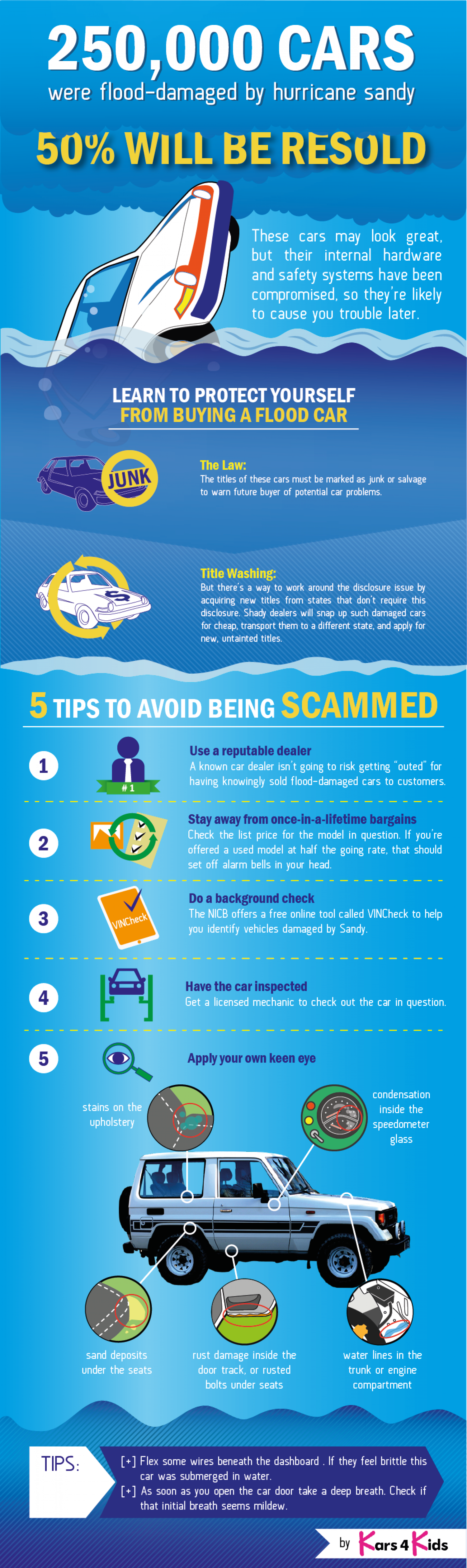 Protect Yourself From Buying A Flood Car Infographic