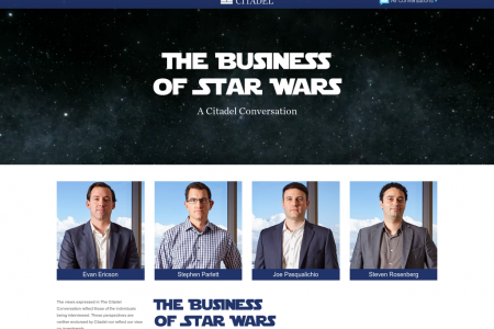 Citadel: The business of starwars Infographic
