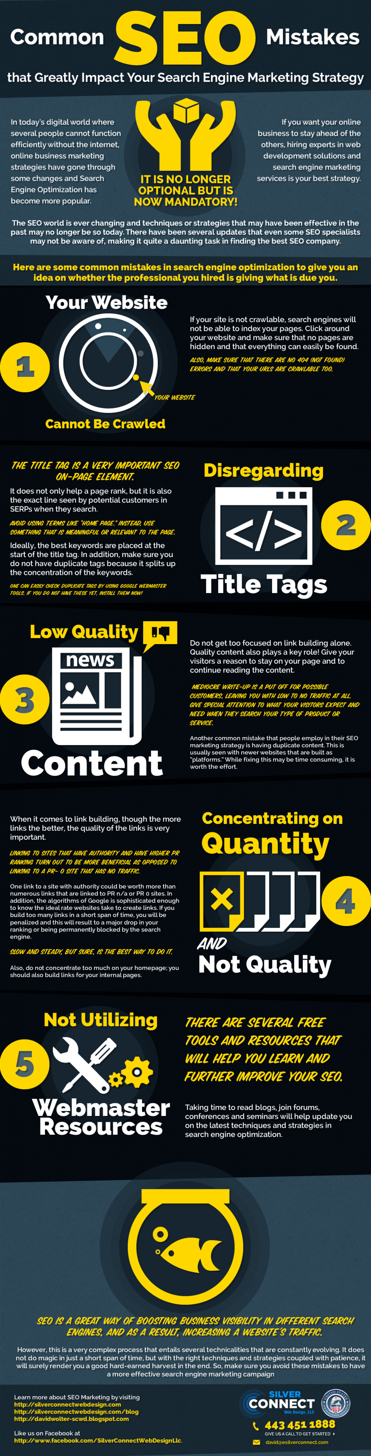 Common SEO Mistakes that Greatly Impact Your Search Engine Marketing Strategy Infographic