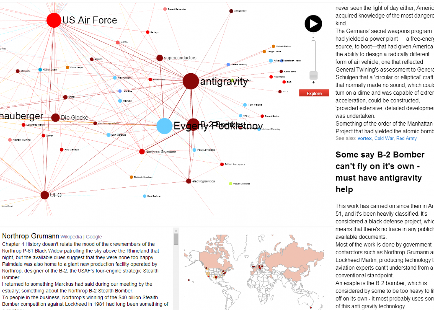 Conspiracy Theory Explorer Infographic