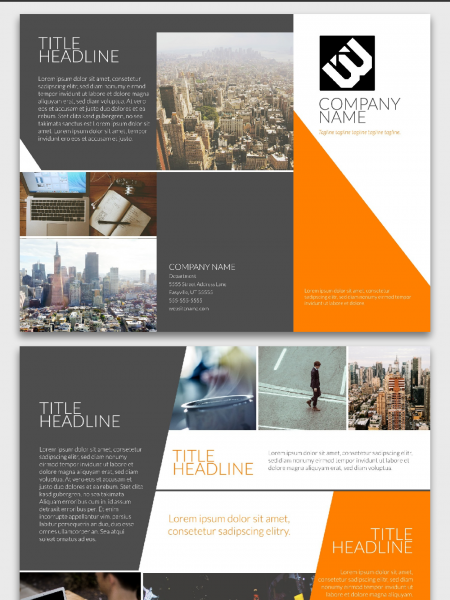 Corporate Brochure Template | Lucidpress Infographic