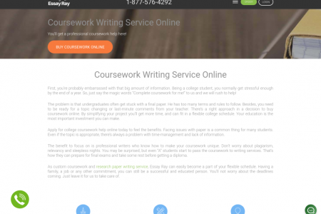 Coursework Writing Service Infographic