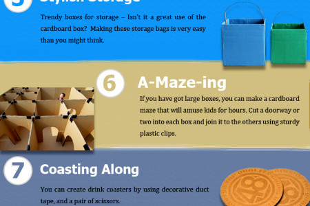 Creative Ways to Reuse Cardboard Boxes Infographic