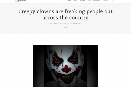 Creepy clowns are freaking people out across the country Infographic
