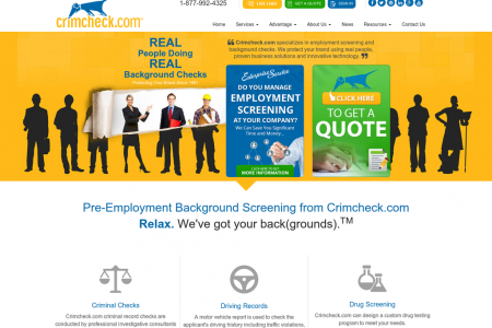 Crimcheck.com Website Infographic