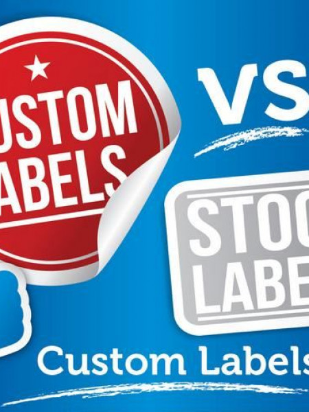 Custom Labels vs Stock Labels: Custom Labels Win Infographic