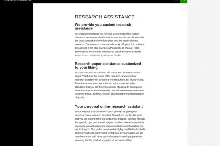 Custom Research Assistance Infographic