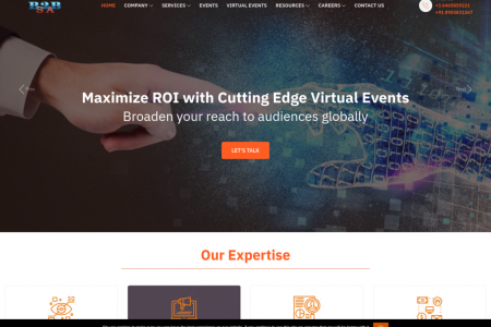 Cutting edge virtual event, lead generation, market research & digital marketing offerings provider Infographic