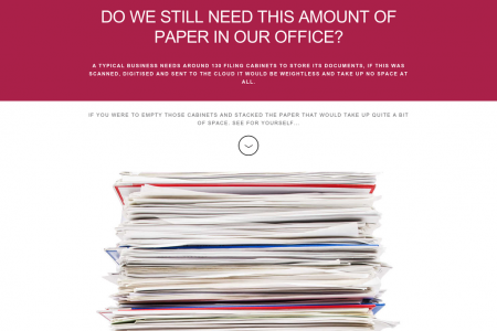 DO WE STILL NEED THIS AMOUNT OF PAPER IN OUR OFFICE? Infographic