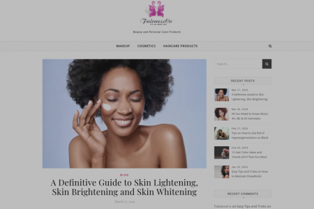 Definitive Guide to Skin Lightening, Skin Brightening and Skin Whitening With FairnessCo Infographic