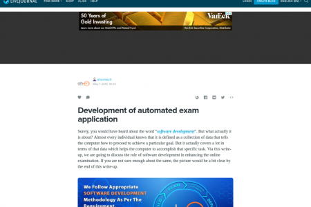 Development of automated exam application Infographic