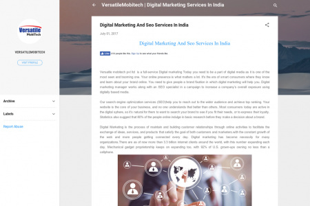 Digital Marketing And Seo Services In India  Infographic