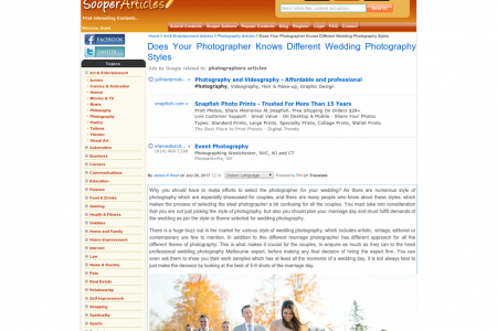 Does Your Photographer Knows Different Wedding Photography Styles Infographic