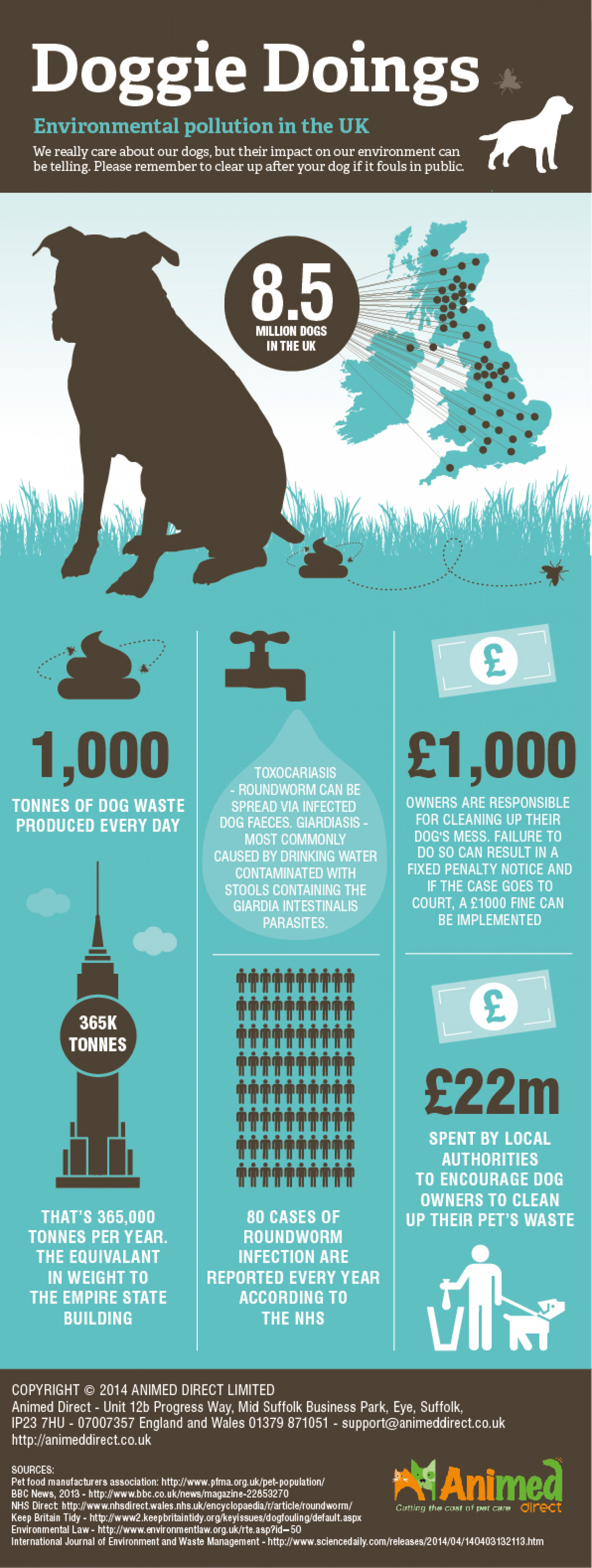 Doggie Doings: Environmental Pollution in the UK Infographic