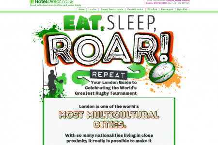 EAT, Sleep, ROAR, Repeat Infographic