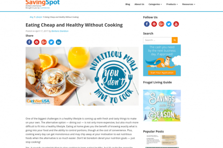 Eating Cheap and Healthy Without Cooking Infographic