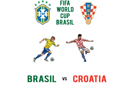 FIFA World Cup - Brasil vs Croatia Infographic