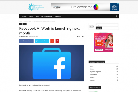 Facebook At Work is launching next month Infographic