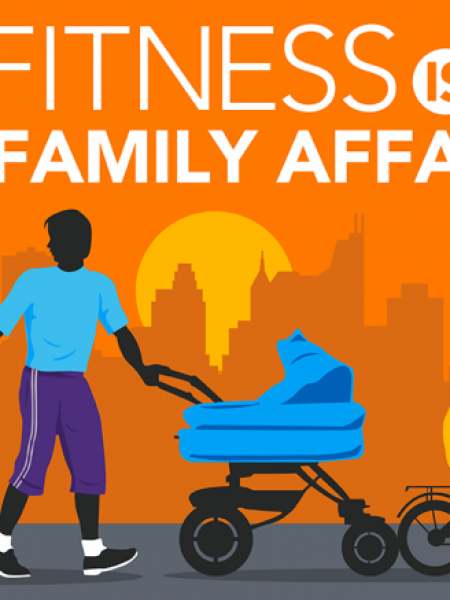 Fitness is a family affair Infographic