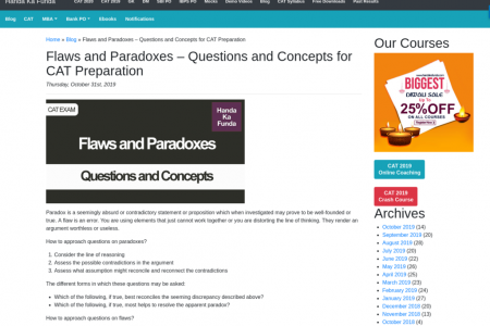 Flaws and Paradoxes – Questions and Concepts for CAT Preparation Infographic