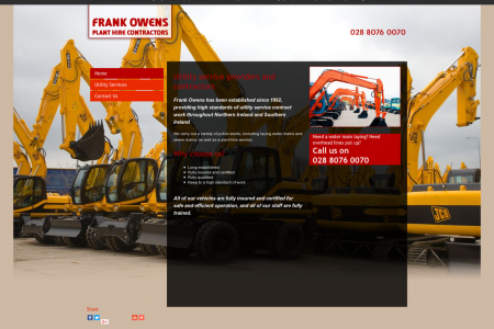 Frank Owens Contractors: Groundworks Construction Infographic