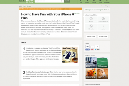Fun Tricks & Tips For iPhone 6 Plus  Infographic