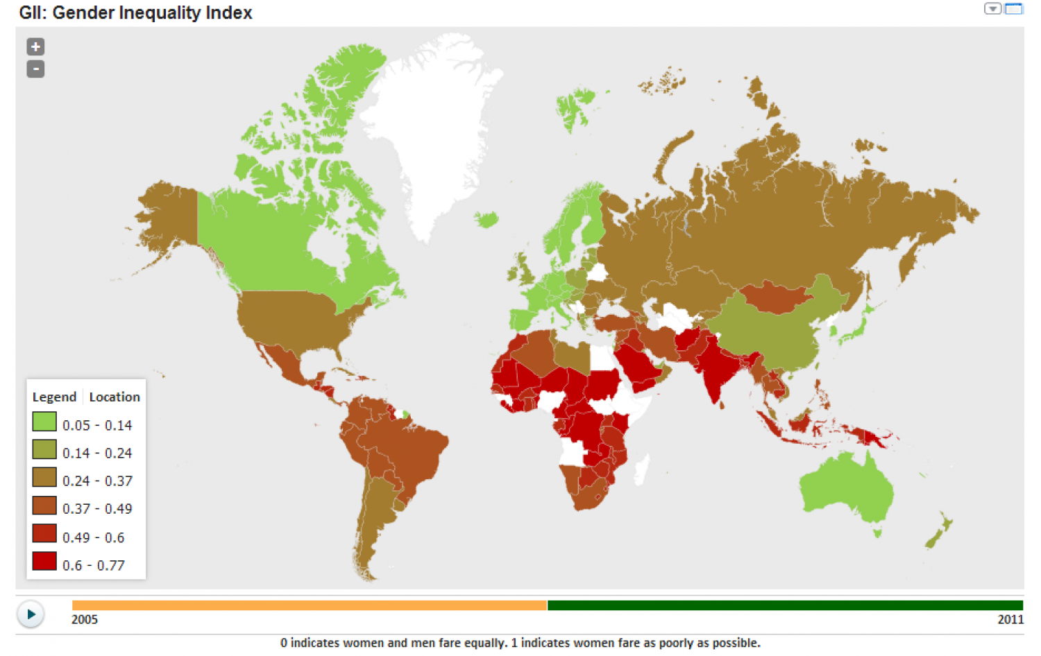 Gender Inequality Index around the world Infographic