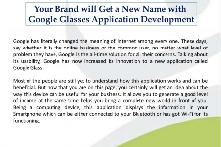 Google Glass App Development Infographic