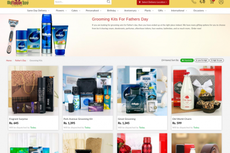 Grooming Kit For Dad to Surprise Him on Father's Day via MyFlowerTree Infographic