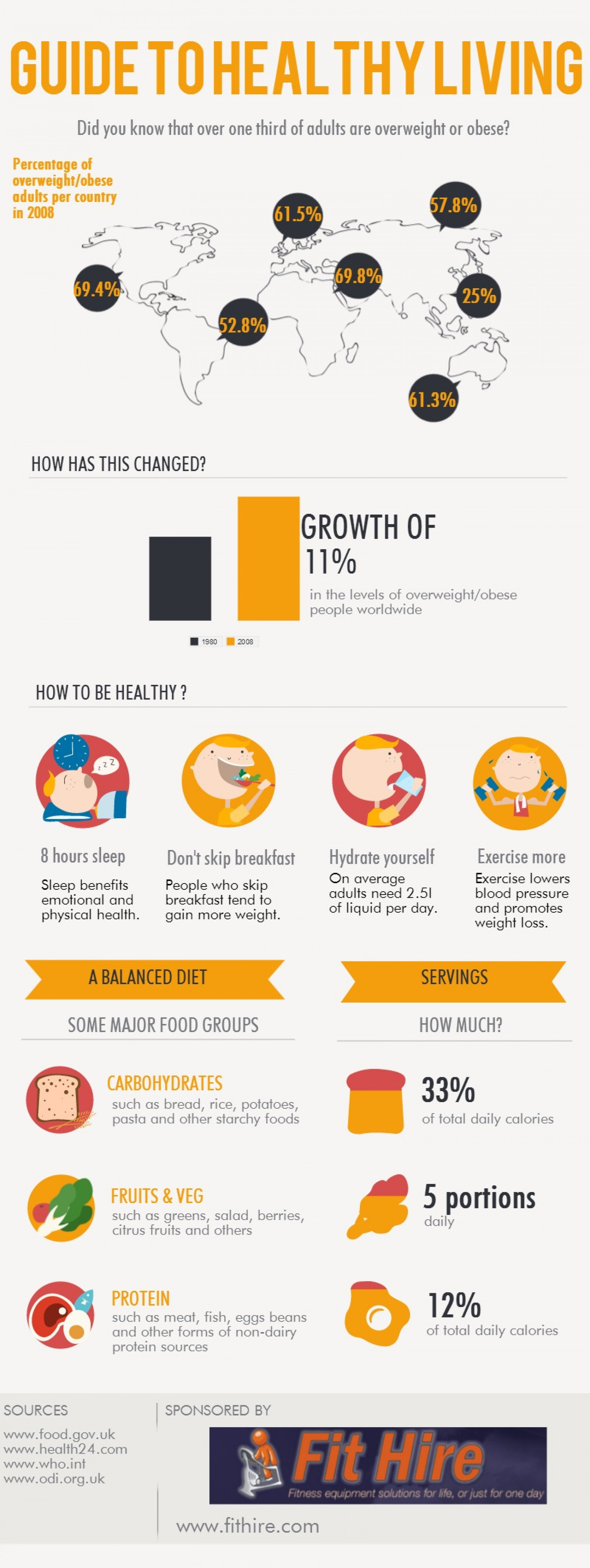 Guide to Healthy Living Infographic